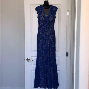 Cobalt blue lace gown